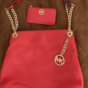 Rare Color Authentic New Michael Kors bag &keyfob